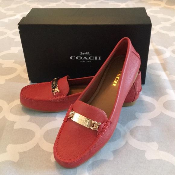Coach Shoes - Coach pebble grain leather loafers women's shoes